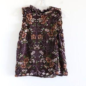 Eliane Rose brown velvet boho floral ruffle cute